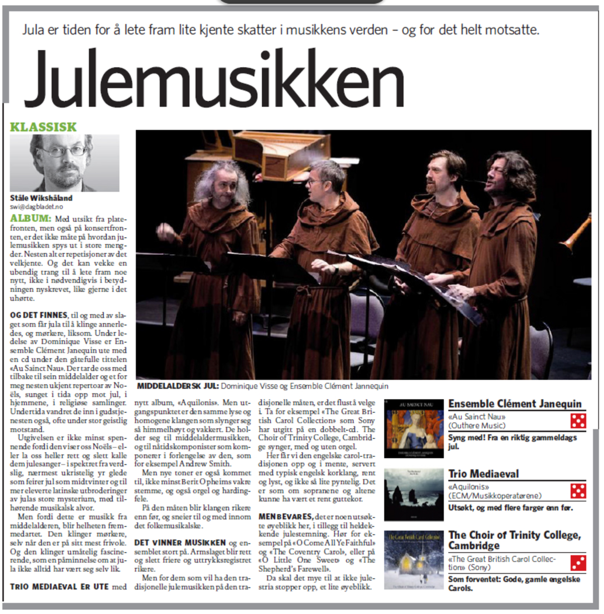 Aquilonis review in Dagbladet